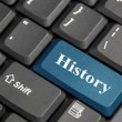 Stock Photo: History key on computer keyboard