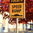 Speed bump road sign — Stock Photo