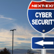 Cyber security road sign — Stock Photo