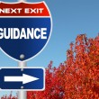 Stock Photo: Guidance road sign
