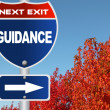 Guidance road sign — Stock Photo