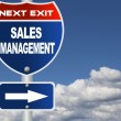 Stock Photo: Sales management road sign