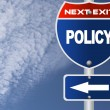 Policy road sign — Foto de Stock