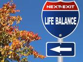 Life balance road sign — Stock Photo