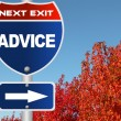 Stock Photo: Advice road sign