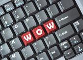 Wow em teclado — Fotografia Stock