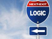 Logic road sign — Stock Photo