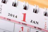 January 2014 - Calendar series — Stock fotografie
