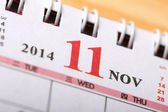 November 2014 - Calendar series — Stock Photo