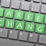 Career change on keyboard — Stock Photo