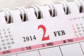 Macro Chinese Calendar 2014 - February — Stock Photo