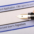 Authorized user's signature — Stock Photo