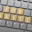 Job skills on keyboard — Stock Photo