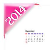 November of 2014 calendar — Stock Photo