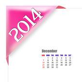 December of 2014 calendar — Stock Photo