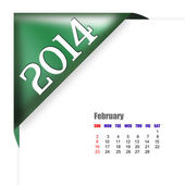February of 2014 calendar — Stock Photo