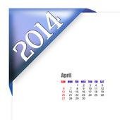April of 2014 calendar — Stock Photo