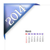March of 2014 calendar — Stock Photo