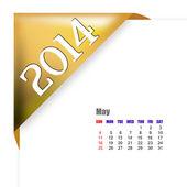 May of 2014 calendar — Stock Photo