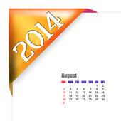 August of 2014 calendar — Stock Photo