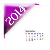 September of 2014 calendar — Stock Photo