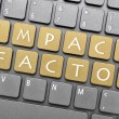 Stock Photo: Impact factor key on keyboard