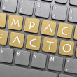 Impact factor key on keyboard — Stock Photo #37656557