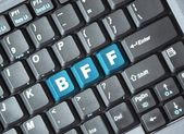 Bff key on keyboard — Stock Photo