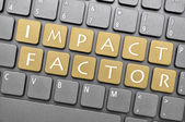 Impact factor key on keyboard — Stock Photo