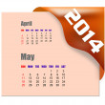 2014 May calendar — Stock Photo #38185043