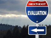 Evaluation road sign — Stock Photo