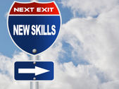New skills road sign — Stock Photo