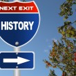 History road sign — Stock Photo