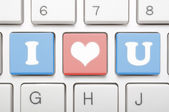 I love you on keyboard — Stock Photo