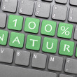 One hundred percent nature on keyboard — Zdjęcie stockowe #40256325