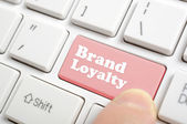 Pressing brand loyalty key on keyboard — Stock Photo