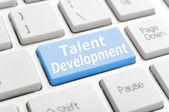 Talent development on keyboard — Stock Photo