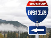 Expect delays road sign — Stock Photo