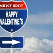 Happy valentine's road sign — Stock Photo