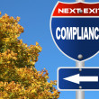 Stock Photo: Compliance road sign
