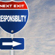 Responsibility road sign — Stock Photo #41230727