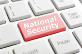 National security on keyboard — Foto de Stock