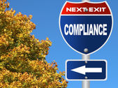 Compliance road sign — Stock Photo