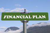 Financial plan road sign — Stock Photo