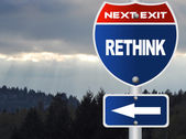 Rethink road sign — Stock Photo