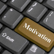 Stock Photo: Motivation key on keyboard