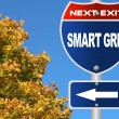 Smart grid road sign — Stock Photo