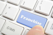 Pressing franchise key on keyboard  — Stock Photo