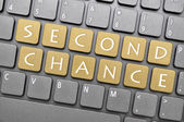 Second chance on keyboard — Stok fotoğraf