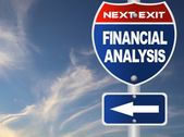 Financial analysis road sign  — Stock Photo